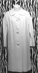Audrey Hepburn Style White Vintage Coat