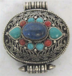 Vintage Pendant Tibetan Silver Ghau