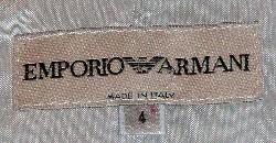 Emporio Armani Vintage Blazer Label