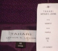 Purple Tahari Skirt Suit Label