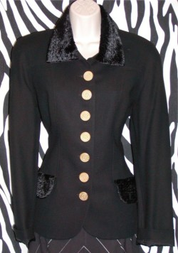 Black Vintage Blazer By Moschery