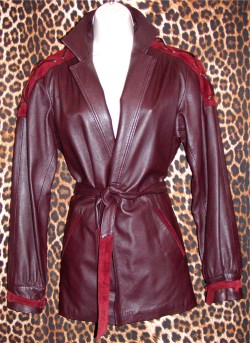 Classic Burgundy Leather Jacket