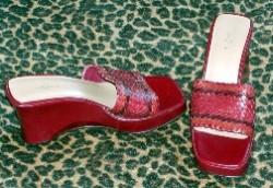 Anne Klein Vintage Slides Burgundy
