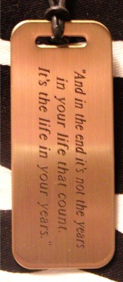 Quotation Pendant I'ts The Life In Your Years