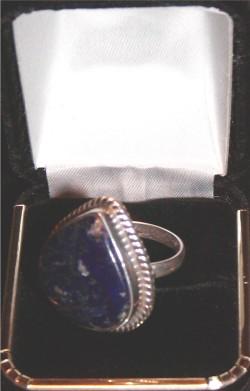 LARGE Lapis Lazuli Sterling Silver Ring