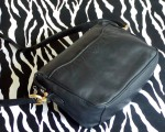 Vintage Black Laura Scott Leather Shoulder Bag