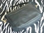 Vintage Black Laura Scott Leather Shoulder Bag