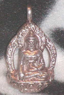 Vintage Nepalese Sterling Silver Buddha Pendant