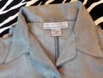 Vintage Niveau Classics Button Front Silk Shirt