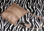 Vintage Shoulder Bag With A Horn And Leather Tassel