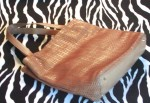 Vintage Talbots Tan Woven Leather Handbag