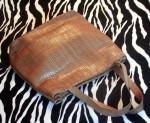 Vintage Talbots Tan Woven Leather Handbag