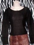 Estate Black Mohair Pullover Size XS
