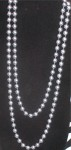 Estate Long Gray Pearl Necklace