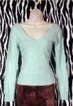 Sexy Vintage V-Neck Angora Pullover