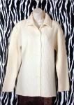 Vintage Off White Wool Cardigan Jacket Size M
