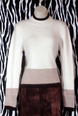 Vintage Tri-Color Angora Pullover