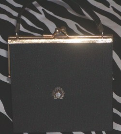 Black Mini Vintage Evening Purse
