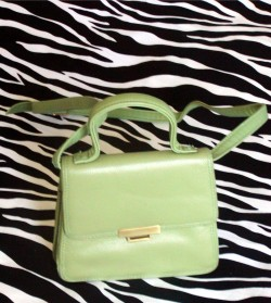Neon Green Small Vintage Croft & Barrow Leather Purse