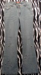 Stretchy And Flashy Vintage Jeans