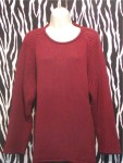 Vintage Burgundy DKNY Pullover Tunic