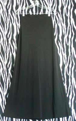 Black Maxi A-Line Banana Republic Skirt