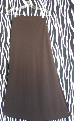 Brown Maxi A-Line Old Navy Skirt