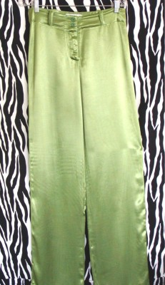 Neon Green SATIN Pants