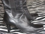 Vintage Anne Klein Tall Black Leather Boots