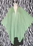 Vintage Celadon Green Cape Coat
